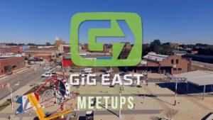 Gig East Meetups Video Overlay